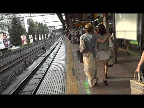Harajuku Station, railway ride and stop