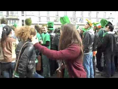 Ellen's Dance Dare in Dublin, Ireland for St. Patricks Day