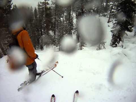 tree skiing in Tahoe