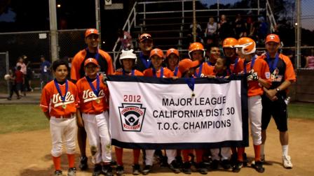District 30 Major Division Champion Orange Volunteers