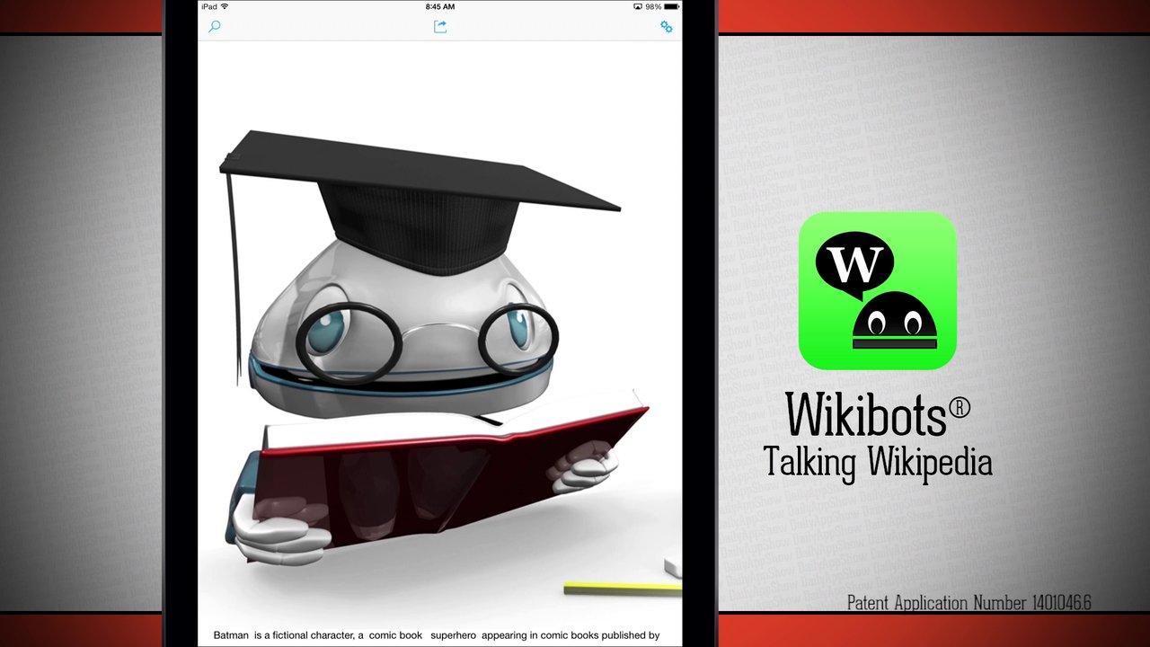 WikiBots Talking Wikipedia iPad App Demo - DailyAppShow 3