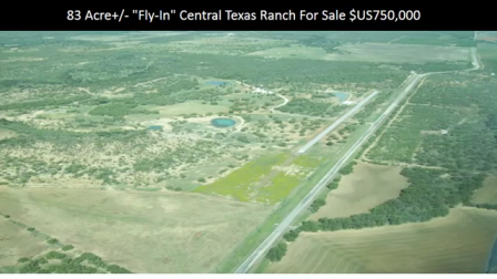 Texas Ranch For Sale with Private Airstrip, Hangar & Home