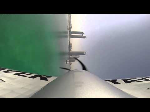 Hannes Arch training flight with his GoPro camera, Red Bull Air Race Abu Dhabi