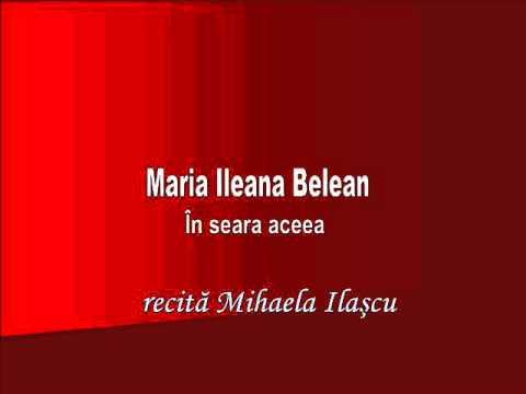 RVR - Maria Ileana Belean - În seara aceea - recită Mihaela Ilaşcu