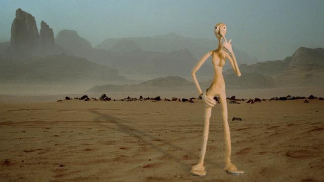 Nosepoking puppet in the desert...