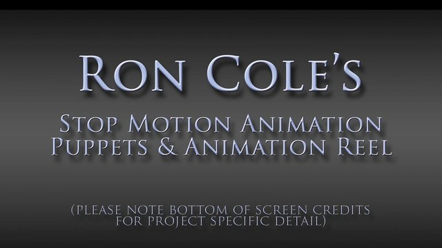 Ron Cole's Realistic Stop Motion Creature Effects Reel