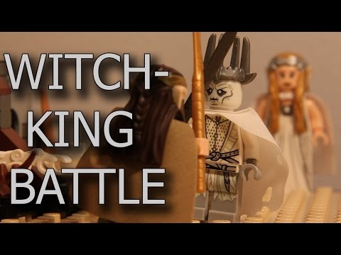 Lego Stop Motion - Witch-king Battle ( The hobbit 79015)