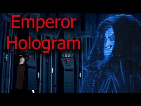 Lego Stop Motion - Star Wars - Emperor Hologram
