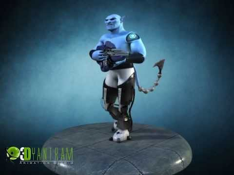3D Goblin Creature Character Animation, Game Character Modeling - Game Development Studio