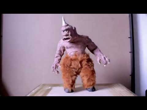 Harryhausen 7th Voyage Cyclops stop motion test (26/06/2016)