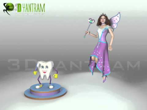 Fairy Character Modeling, Video Production,Product Design & 3D Character Animation and Rigging