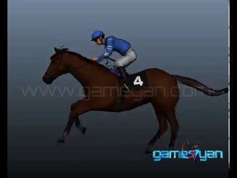 3D Horse Riding Quadruped Character Modeling, Rigging Animation Studio