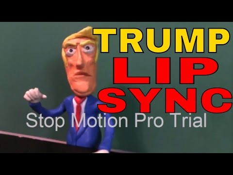 claymation lip sync, Donald Trump stop motion pro eclipse