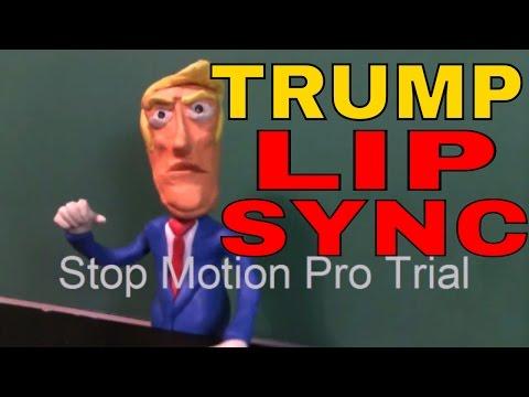 claymation lip sync, Donald Trump stop motion pro eclipse