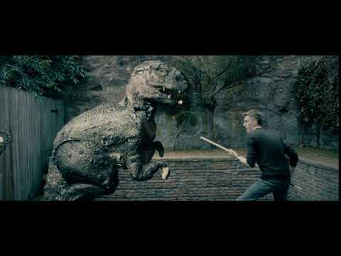 Stop Motion Dinosaur with Live Actor Dynamation Test