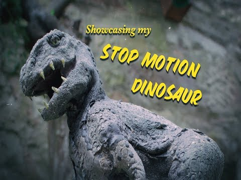Showcasing the T-Rex Dinosaur Stop Motion Model