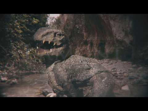 Dinosaur Stop Motion with live action background test
