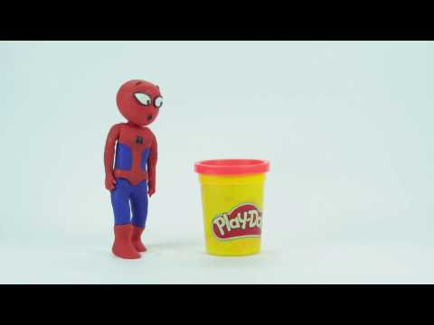 Spider man and Joker Play doh Stop Motion Animation