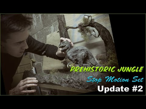 Prehistoric Jungle Stop Motion Set - Update #2