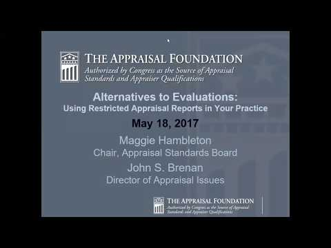 Alternatives to Evaluations: Using Restricted Appraisal Reports in Your Practice