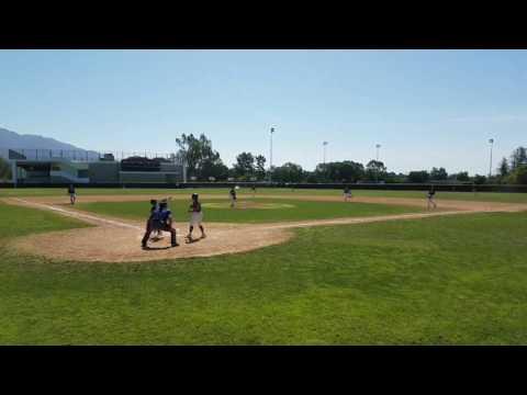 Elijah Throwing Out Base Runner vs. Pomona Titans (04-23-17)