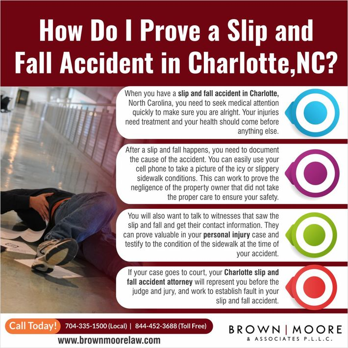 How Do I Prove a Slip and Fall Accident in Charlotte, NC