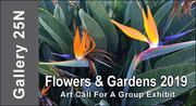 ART CALL TO ARTISTS AND PHOTOGRAPHERS – Flowers & Gardens 2019