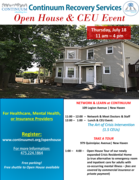 Continuum Recovery Services Open House and CEU Event