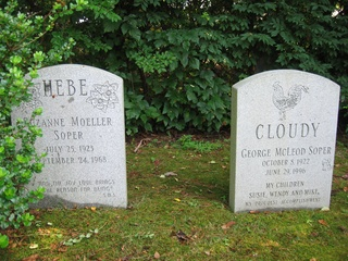Headstones of Susan's parents, in Old Saybrook, CT