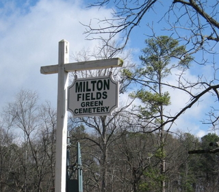 Milton Fields Green Cemetery, Georgia