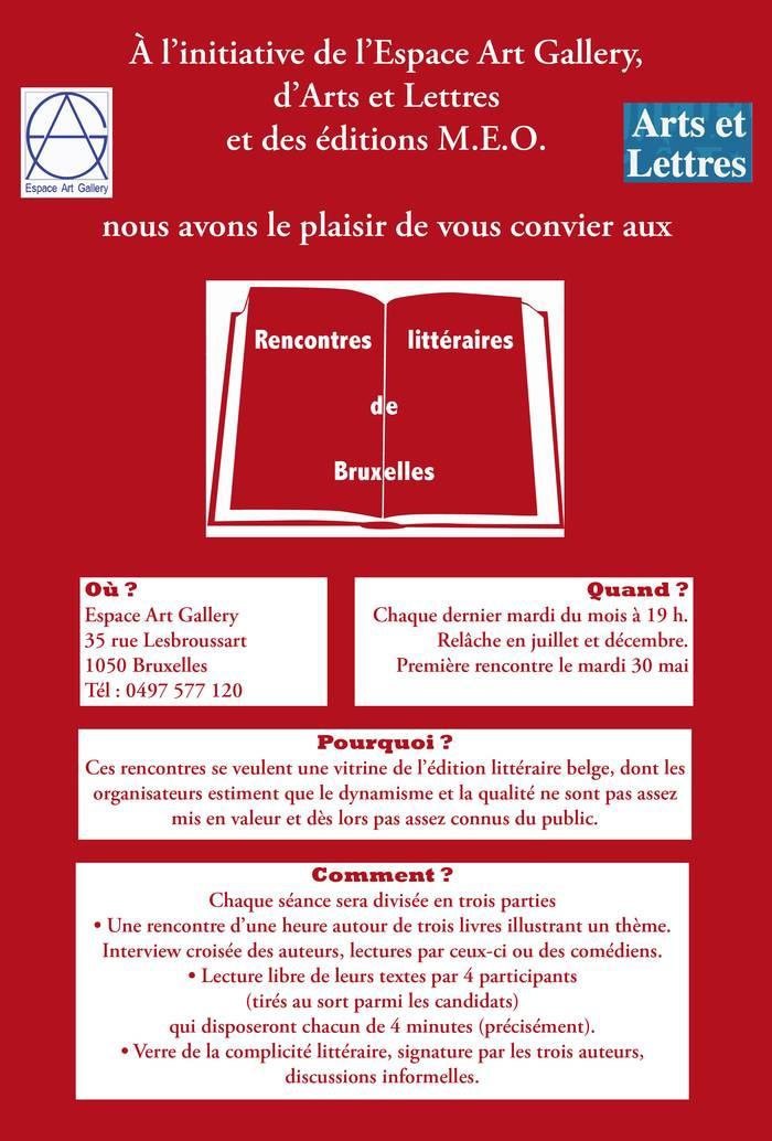 Portes et livres ouverts : Les Rencontres Littéraires de Bruxelles