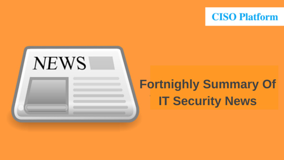 Fortnightly Summary Of Top IT Security News - 15th Mar,2016