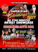 SUPER STAR SUNDAYS ARTIST SHOWCASE DEC 18TH @ POMPEII LOUNGE BX NY HOSTED BY STEPH LOVA