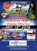 SUPER STAR SUNDAYS ALL STAR $1000 INDUSTRY NIGHT NETWORKING MEDIA EVENT STARING THE LEGENDARY D J COCOA CHANELLE MAY 19TH CLUB ALLURE
