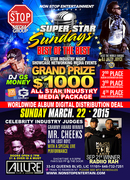 MARCH 22,2015 SUPER STAR SUNDAYS ALL STAR $1000 NATIONAL MEDIA EVENTS HOSTED BY THE WORLD FAMOUS DJ JAZZY JOYCE HOT 97FM SPECIAL GUST JUDGES MR.CHEEKS & THE LOST BOYZ