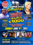 JUNE 4,2017 SUPER STAR SUNDAYS ALL STAR NATIONAL UNSIGNED HYPE $1000 COMPETITION NYC HOSTED BY VH-1 LOVE AND HIP HOP CELEBRITY CHRISSY MONROE W/ ALL STAR COMEDIAN FLYBOI KRIS