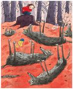 Illustrationer av Pija Lindenbaum