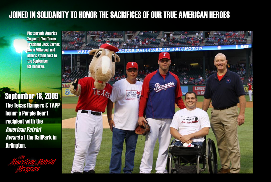 American Patriot Program with the Texas Rangers