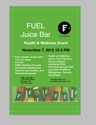 Fuel Juice Bar Health and Wellness Event Fulton st.