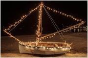 Άναμμα Χριστουγεννιάτικης Βάρκας στην Αλυκή / Lighting of Christmas Boat in Aliki
