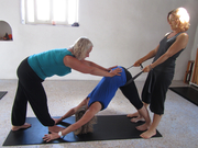 5 days yoga course for teachers; hands on adjustment and the use of props