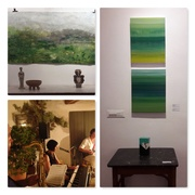 Rhythm and Color II opening party with live jazz at Holland Tunnel Gallery