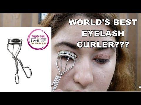 Shu Uemura Eyelash Curler Review & Demo