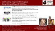 Annual Being Bilingual: Hispanic Heritage Expo