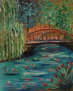DATE NIGHT AT CANVAS AND CHEERS Paint MONET BRIDGE