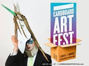 Pop-Up Dinner, Art and Music in TheDailyCity.com Cardboard Art Festival