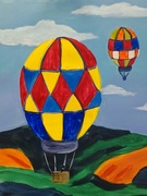 Acrylic Painting Kids Class - Hot Air Balloons