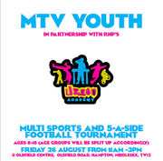 Multi Sports & 5-A-Side Football Tournament. Oldfield Centre Saturday 26th August