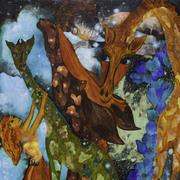 """นิทรรศการศิลปะ """"ความฝันของผู้หญิงคนหนึ่งบนท้องฟ้ายามราตรี"""" (A Woman's Dream of the Night Sky)"""