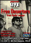 POPSCENE LIVE PRESENTS...FREE DESERTERS (from Kuala Lumpur)